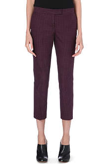 JOSEPH Cropped diamond trousers