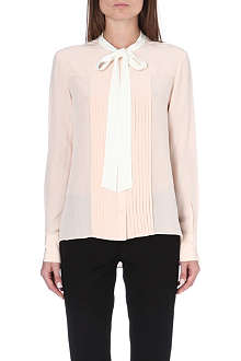 JOSEPH Victoire pussy-bow silk blouse