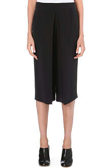 JOSEPH Billy matt silk cropped trousers
