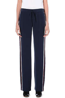 JOSEPH Pyjama Smoking matt silk trousers
