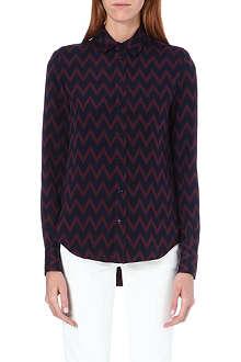 JOSEPH Garcon matt silk chevron blouse