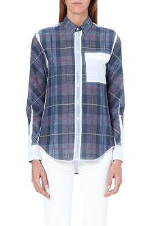 JOSEPH Garcon reverse check blouse