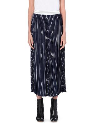 JOSEPH Silk Stripe Plisse skirt