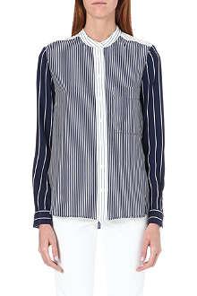 JOSEPH Lance silk stripe blouse