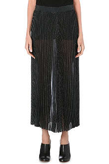 JOSEPH Principe pleated silk skirt