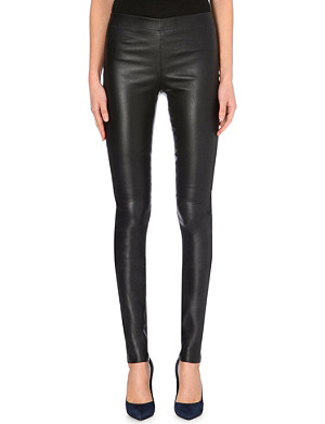 JOSEPH Leather stretch leggings