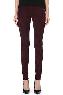 JOSEPH Suede leggings