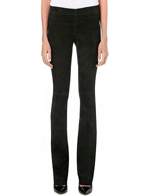 JOSEPH Lex suede stretch trousers