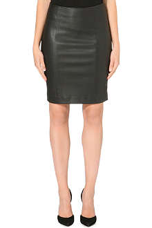 JOSEPH Brent leather stretch skirt