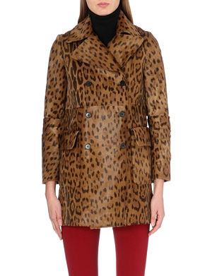 JOSEPH Cadet leopard-print calfskin coat