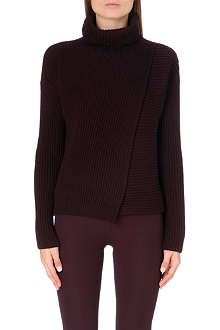 JOSEPH Ribbed cashmere turtleneck