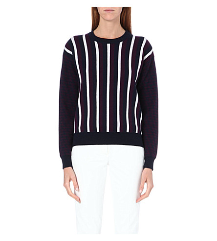 JOSEPH Chevron stripe jumper (352 nav/bdy/ecr