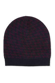 JOSEPH Geometric-jacquard wool hat