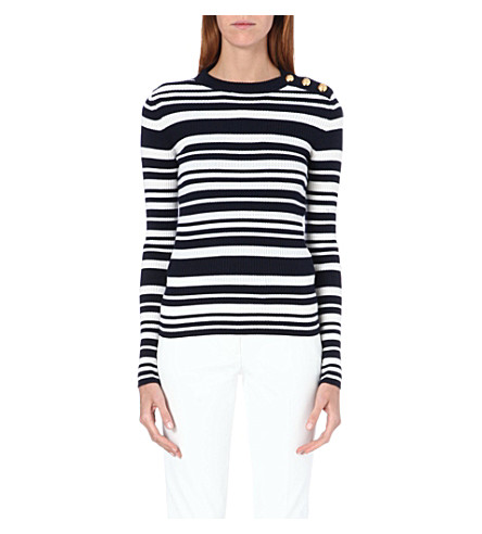 JOSEPH Sailor stripe jumper (925 navy/ecru