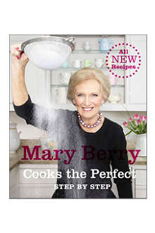 WH SMITH Signed Mary Berry Cooks the Perfect recipe book