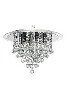 LIGHT SHOP Atlas crystal semi flush ceiling light