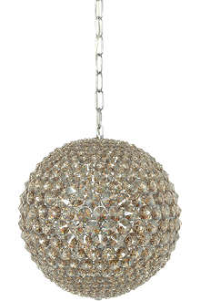 LIGHT SHOP Champagne crystal ball pendant