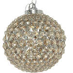 LIGHT SHOP Champagne crystal ball flush ceiling light