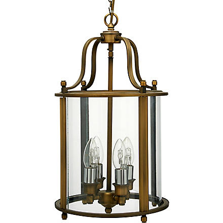LIGHT SHOP Classico four light lantern pendant antique brass