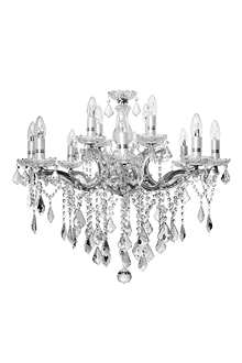 LIGHT SHOP Florence crystal 12 light chandelier chrome