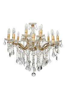LIGHT SHOP Florence crystal 12 light chandelier gold