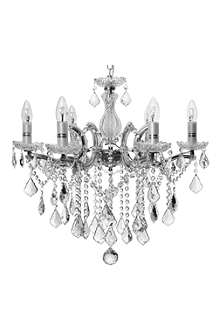 LIGHT SHOP Florence crystal six light chandelier chrome
