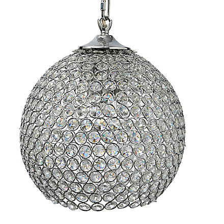 LIGHT SHOP Gardner medium crystal ball pendant light