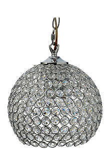 LIGHT SHOP Gardner small crystal ball pendant light