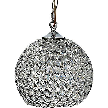 LIGHT SHOP Gardner small crystal ball pendant light