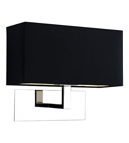 LIGHT SHOP Knightsbridge wall light polished with black shade