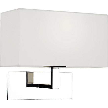 LIGHT SHOP Knightsbridge wall light polished with white shade