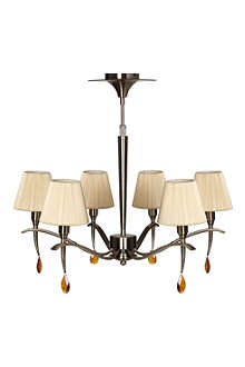 LIGHT SHOP Monte Carlo chandelier with shades