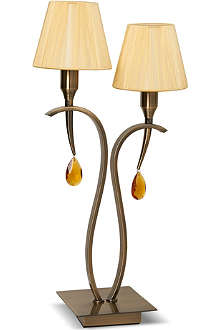 LIGHT SHOP Monte Carlo twin table lamp