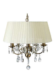 LIGHT SHOP Oliver antique brass and crystal pendant light
