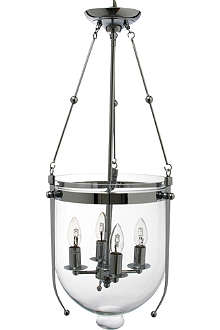 LIGHT SHOP Roberto glass bowl four light lantern