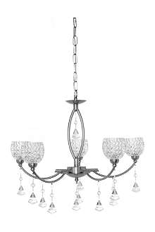 LIGHT SHOP Sherry five light crystal pendant light