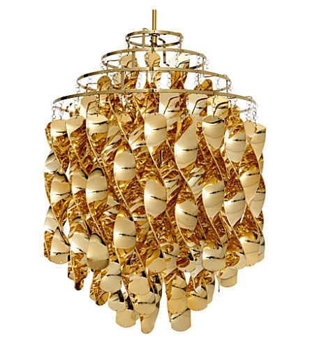 VERPAN Spiral pendant light gold