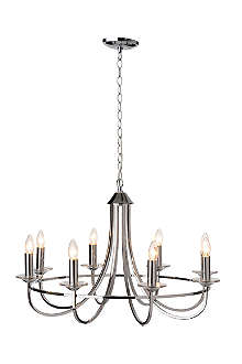 LIGHT SHOP Swing chandelier light chrome