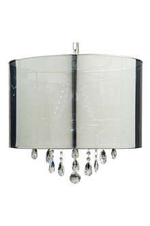 LIGHT SHOP Tracy crystal chandelier with shade
