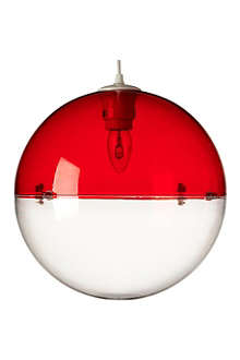 LIGHT SHOP Venus ball pendant light red
