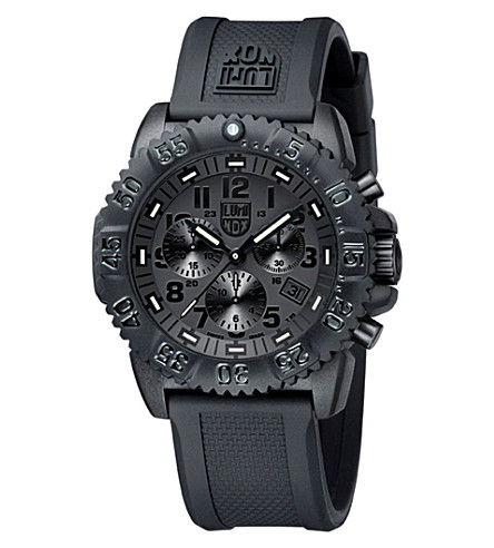 SPYMASTER Navy Seal Colormark Chrono 3080 Series Watch (Black