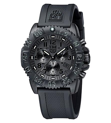 SPYMASTER Navy Seal Colormark Chrono 3080 Series Watch (Black