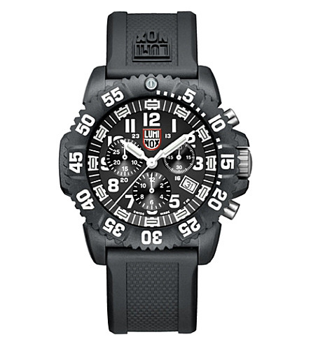 SPYMASTER Lum3081 Colormark Chronograph watch (White