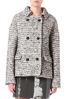 FRENCH CONNECTION Electric Check bouclé coat