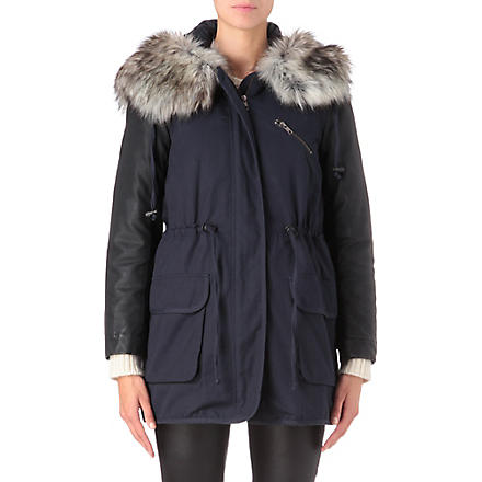 FRENCH CONNECTION Rhumba hooded parka (Balsamic
