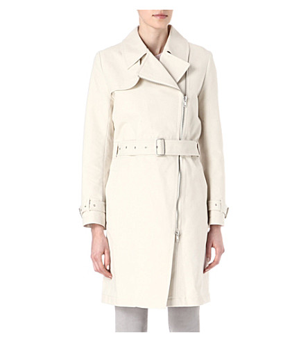 FRENCH CONNECTION Freeway cotton trench coat (Brule