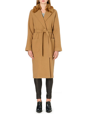 FRENCH CONNECTION Imperial wool maxi coat