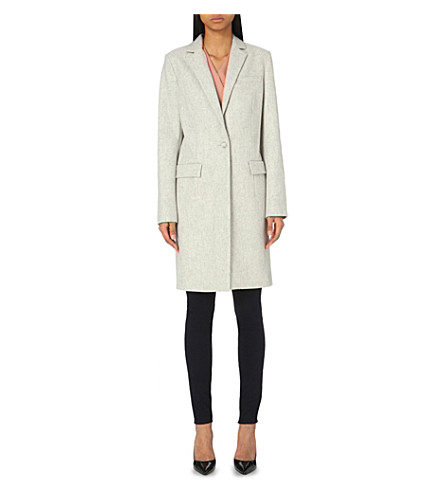 FRENCH CONNECTION Milo Melton wool-blend coat (Grey