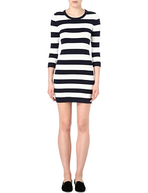 FRENCH CONNECTION Stretch-knit striped dress