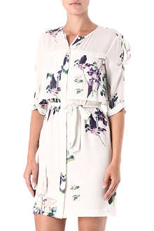 FRENCH CONNECTION Water Flower draped-tie dress